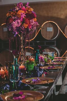 for more information go to www.heathercdesigns.com Loving the vibrant colors we are able to put together for the Aladdin Arabian Nights inspired Wedding. Fuschia, burgundy, eggplant, orange, purple, red and turquoise are absolutely stunning together! Loved how the colors popped off the barrels @scwinery