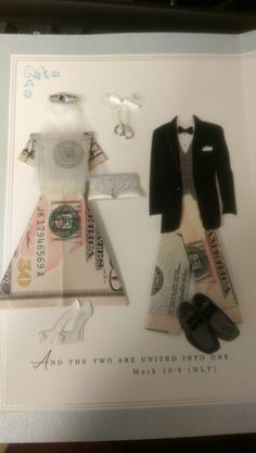 Wedding gift idea (Oragami money dress/trousers) & Origami Money for a Wedding Gift I have been looking for something ...