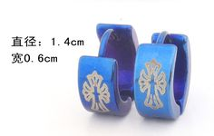 Free shipping 316L Stainless Steel  hip hop earrings fashion Punk blue cross  jewelry  wholesale. Yesterday's price: US $1.78 (1.51 EUR). Today's price: US $1.51 (1.25 EUR). Discount: 15%.