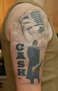 Johnny Cash tribute tattoo..