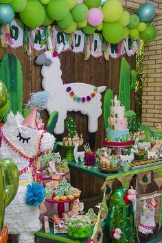 Blog Encontrando Ideias Llama Birthday, 1st Birthday Girls, First Birthday Parties, First Birthdays, Unique Birthday Party Ideas, Birthday Party Decorations, Fiesta Theme Party, Mexican Party, Party Time