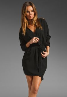 fLuXuS Polly Dress in Black inspired by #LouiseRoe.  Shop #DMLooks at DivaMall.tv