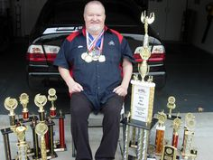 Mike Allen and his trophies