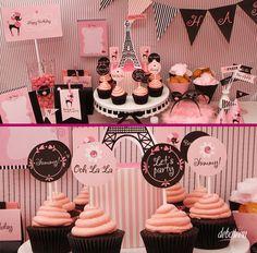 2d6804c7a3701e Festa Paris. Paris DessertsParis Sweet 16Paris Birthday Parties10th Birthday MoanaBirthday DecorationsParty ...