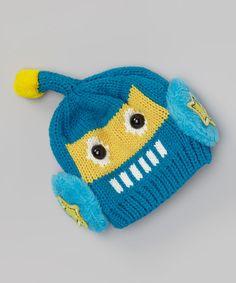 Loving this Blue Robot Beanie on #zulily! #zulilyfinds