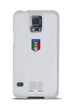 Federazione Italiana Giuoco Calcio leather cover for Samsung Galaxy S5, #white - Funda para Galaxy S5 colección FIGC
