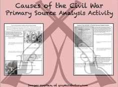 Here's a set of passages, graphics, and quotes for students to analyze while trying to understand the causes of the Civil War.