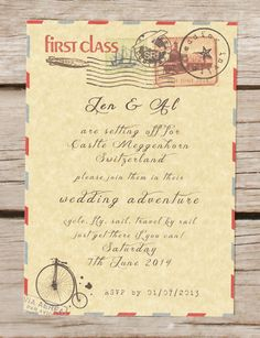 Travel theme wedding invitation passport by BeOurGuestDesigns, Trendy 2019 - Wedding Invitations Trends 2019 - Nail polish patterns that you can do with the nails arts friends look at the hands of . Vintage Wedding Stationery, Safari Wedding, Travel Party, Travel Themes, Vintage Travel, Destination Wedding, Wedding Planner, Bridal Shower, Baby Shower