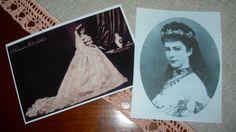 Sissi tra il 1867 e il 1870 in due riproduzioni di foto d'epoca... dalla mia collezione personale...