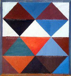 """""""Composicion 1 B"""" , acrylic on canvas, 31 x 34 cm, 2013. By Diego Manuel"""
