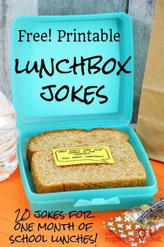 Free Printable Lunchbox Jokes PDF file for you to Print for school lunches. via @theinspovault
