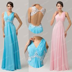 NWT Masquerade Attire Formal Club Cocktail Evening Prom Gown Party Chiffon Dress #GraceKarin #BallGown #Formal Bridesmaid Dresses, Prom Dresses, Formal Dresses, Masquerade Attire, Grace Karin, Chiffon Dress, Ball Gowns, Cocktails, Club
