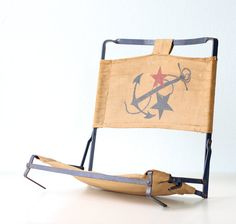 Vintage Nautical Seat by bellalulu on Etsy, $68.00  ...  Etsy is just full of @Morgan Ryan and @Lia Hanley's favorite things today.