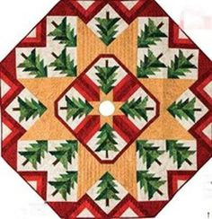 Love Pam Bono's designs-this is a free pattern she is offering for a tree skirt.