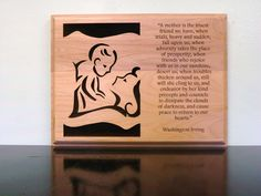 This laser engraved alder plaque shows your appreciation to mom.  Great for Mother's Day, Mom's Birthday, Mom-to-Be Special $50.00
