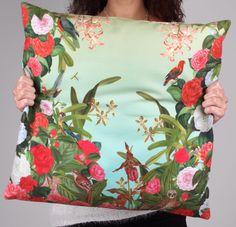Throw Pillow - Almofada Impressa Garden by Benedita Feijó http://versestore.com/products-page/almofadas/almofada-garden/