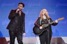 Adam Lambert Photos - Adam Lambert and Melissa Ethridge perform onstage at the 29th Annual GLAAD Media Awards at The Hilton Midtown on May 5, 2018 in New York City. - 29th Annual GLAAD Media Awards - Dinner And Show