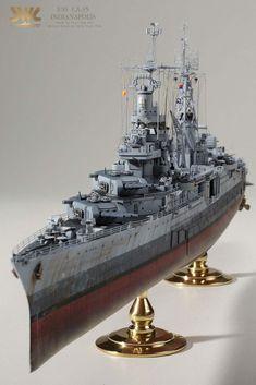 USS Indianapolis (CA-35): Built by master modeler Kim hyun-soo, South Korea!