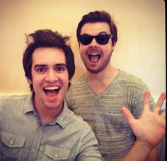 Panic! at the Disco.. how cute is he!? (not the one in the back)