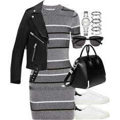 Sem título #955 by oh-its-anna on Polyvore featuring T By Alexander Wang, Yves Saint Laurent, adidas, Givenchy and Calvin Klein