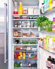 Tips For Organizing the Refrigerator the best refrigerator organization tips The Home Edit Related Steps to an Organized FridgeThe Home Edit House GoalsFacorite Fridge Organization Solutions and Ideas. Organization Using Bins. Refrigerator Organization, Best Refrigerator, Kitchen Organization Pantry, Home Organisation, Organization Hacks, Kitchen Storage, Organized Fridge, Clean Fridge, How To Organize Fridge