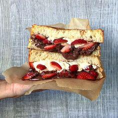 "Strawberry~Nutella~Mascarpone grilled sweet brioche ""sandwich""☁☁️️ @bravotopchef @infatuation #TopChefEEEEEATS #SWEEEEETS #SandwichAndRepeat"