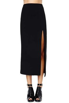 Nasty Gal Just Enough Midi Skirt - Back In Stock