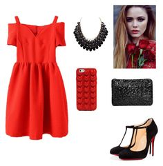"""""""❤️"""" by raaaaa ❤ liked on Polyvore featuring Christian Louboutin and Marc Jacobs"""