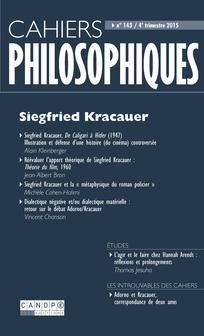 Cahiers philosophiques 2015/4 (n° 143) Siegfried Kracauer