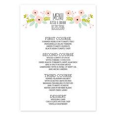 Pretty Please Wedding Menus | Smitten on Paper