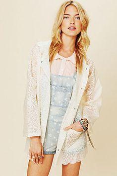 Lace Rain Coat for summer rain