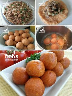 Çok Pratik İçli Köfte – Nefis Yemek Tarifleri – How to Make Very Practical Stuffed Meatball Recipe? Illustrated explanation of this recipe in the book of people and photos of those who try it are here. Iftar, Meatball Recipes, Meat Recipes, Turkish Recipes, Ethnic Recipes, Good Food, Yummy Food, Delicious Recipes, Food Design