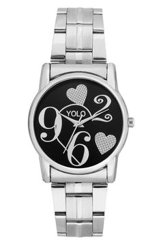YOLO women's black dial Analog wrist watch with silver metal strap is a unique and innovative product in the wrist watches market. This amazing, stylish fashion watch has arrived to complement your look and attitude.