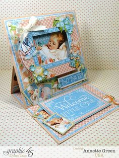 Precious-Memories-Easel-Card-Graphic-45-Annette-Green-(view 2-of-7) ~ Graphic 45 Cards + Layouts.