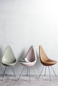 A classic and minimalist tear-drop shaped chair