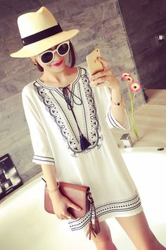 2015 summer wear the new western style embroidery lace cotton dress Vintage Short Dress Blous, taobao price:US$26.86  click the photo to buy this item from taobao agent www.tbsourcingservice.com