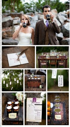 Cute and quirky Harry Potter themed wedding :]