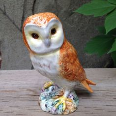 Beswick Barn Owl Porcelain Figurine 2026 Split Tail Feathers Impressed Hallmark