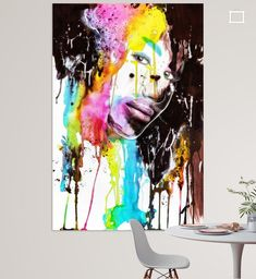 beauty by ink Poster - Silvio Schoisswohl Illustration, Abstract, Artwork, Painting, Dyes, Canvas Frame, Artist Canvas, Digital Art, Photo Wallpaper