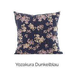 Kissen Shikaku | Yozakura Dunkelblau | 100% Baumwolle | aus Kyoto und Hamburg | Akiko #japanese #pillow #home #decor