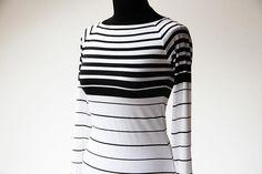 Jak ušít tričko, šaty s raglánovými rukávy (návody na šití) - Prošikulkulky.cz Pdf Sewing Patterns, Turtle Neck, T Shirts For Women, Sleeves, Sweaters, Tops, Fashion, Moda, Fashion Styles