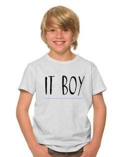 Camiseta niño IT BOY en varios colores de DECHARCOENCHARCO en Etsy