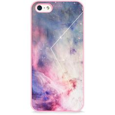 BlissfulCASE Galaxy Pink iPhone 5 / 5s case found on Polyvore