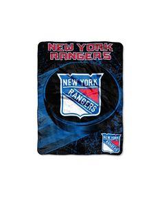 Northwest Company New York Rangers Micro Raschel Ice Dash Throw Blanket