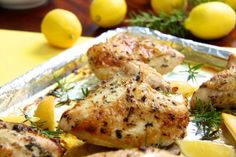 With these super simple Roasted Chicken Breasts with Lemon, Garlic and Rosemary who needs rotisserie chicken? Super versatile for creative meal making!