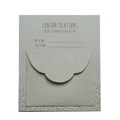 """GIFTWRAP KIT """"CONFETTI"""" - Celebrate in style. Whether you're contributing to a wishing well or giving a gift voucher, present it in a stylish cardvelope. Perfect for engagements, weddings, or anniversaries.  Kit contents:  1 x Card Backing """"Congratulations. Cheers to happily ever after!"""" 1 x Envelope Pocket Attached to Card Backing. Envelope comes with double sided tape to keep valuables safe & secure. Cardvelope is approximately 135mm x 113mm in size."""