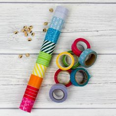 DIY Rainmaker or rainstick craft for kids. This is a super simple craft and musical instrument activity for children. Traditionally made from dried cacti, this simple DIY rainstick has the same sound and is also a perfect rainbow craft too Mais Easy Toddler Crafts, Toddler Art, Crafts For Kids To Make, Diy Crafts For Kids, Projects For Kids, Arts And Crafts, Craft Projects, Kids Diy, Music Crafts