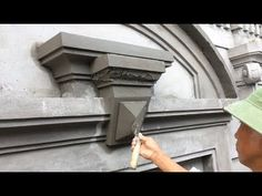 Smart Construction Skills From Sand And Cement - Construction Setp By Setp Cement Design, Cement Art, Cement Crafts, Front Wall Design, Exterior Wall Design, Architecture Concept Drawings, Architecture Design, Fence Construction, Mandir Design