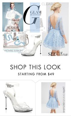 """It's All Clear Now II"" by samketina ❤ liked on Polyvore featuring Pleaser, Dolce&Gabbana, clear and Seethru"