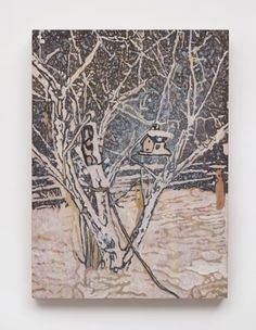View Bird House by Peter Doig sold at Contemporary Art Evening Sale on London 14 October 2015 Learn more about the piece and artist, and its final selling price Contemporary Sculpture, Contemporary Art, Peter Doig, Photo Tree, Abstract Landscape, Book Art, Original Artwork, Auction, Bird